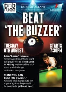 Play a pro pool night poster