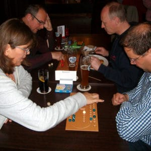 board game in pub