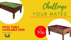 Pool table advert