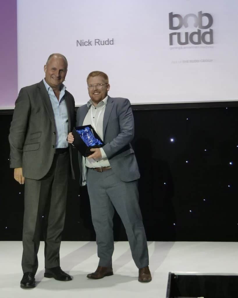 Nick receiving Ei Group Individual of the year award