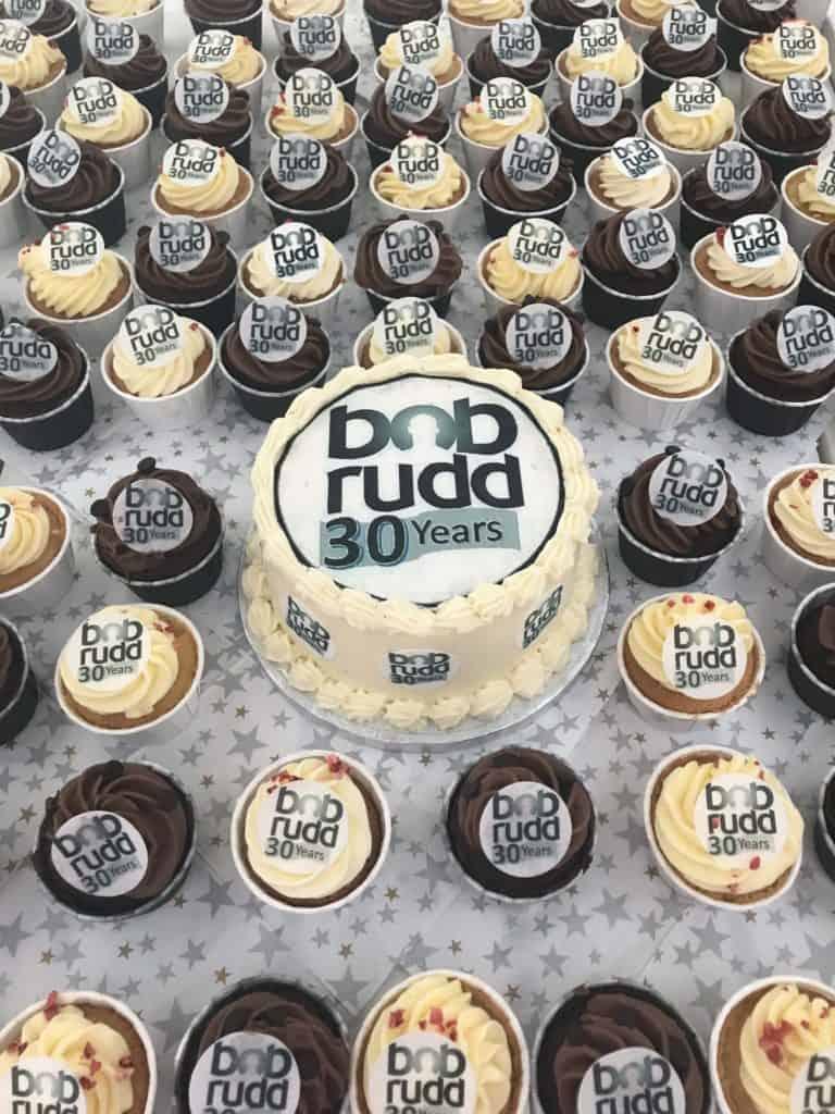 Bob Rudd 30th Anniversary cupcakes